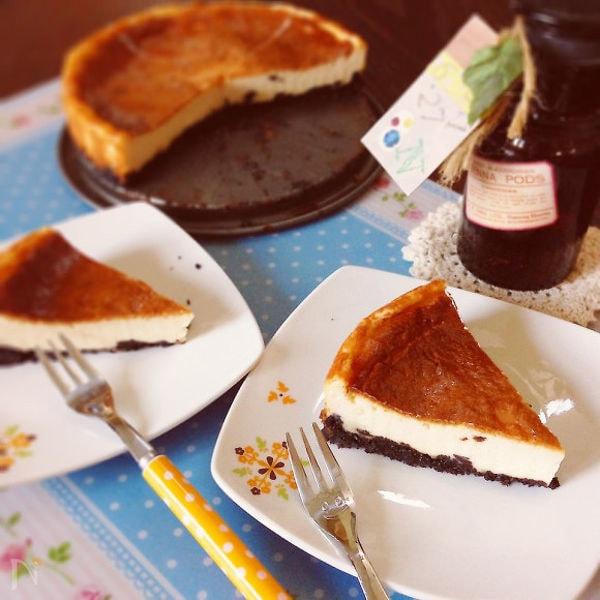 メープル香るベイクドチーズケーキ