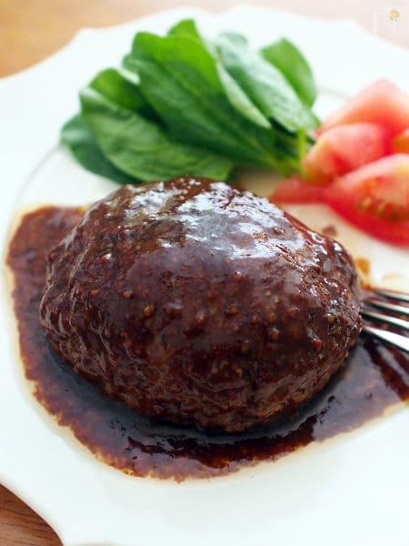 1 ひき肉だけのハンバーグ