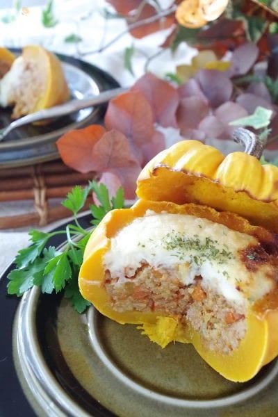 4.かぼちゃ丸ごとミートソースドリア
