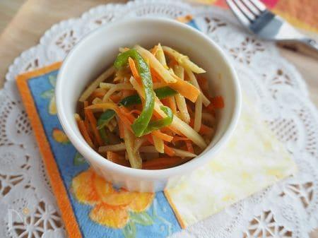 3色野菜のマヨカレー炒め