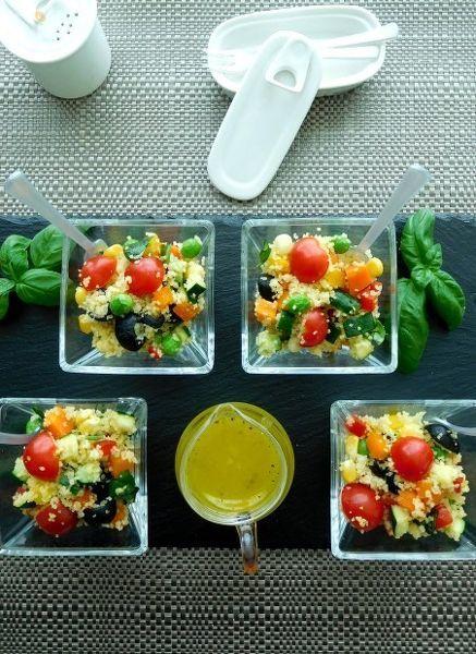 11種の野菜でクスクスサラダ パルミジャーノドレッシング添え
