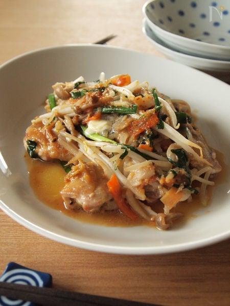 【炒め用カット野菜使用】鶏の味噌バター焼き