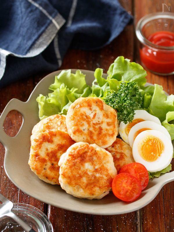 むね肉のはんぺんチーズ丸め焼き【#作り置き #ポリ袋】