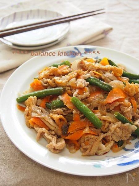 10分!豚肉と野菜のさっぱりハチミツ生姜焼き