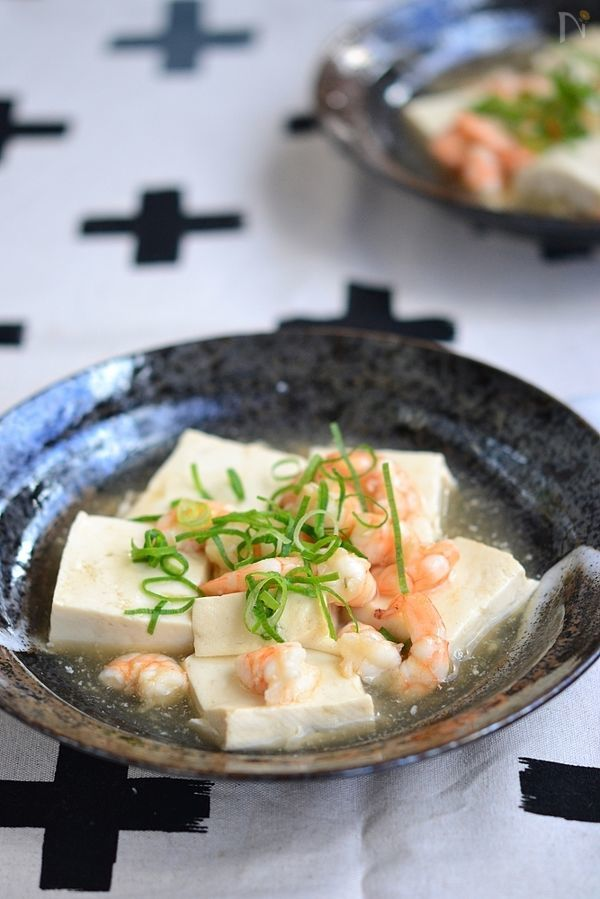 豆腐と海老の鶏だしとろみ煮込み