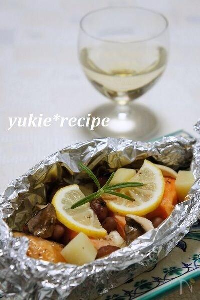 鮭とお芋のホイル焼き