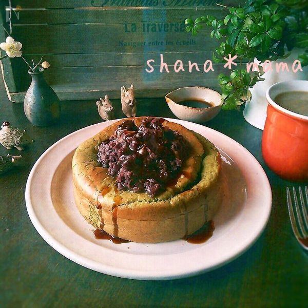 抹茶スフレパンケーキ