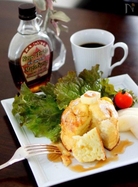 フワフワリコッタチーズのスフレパンケーキ