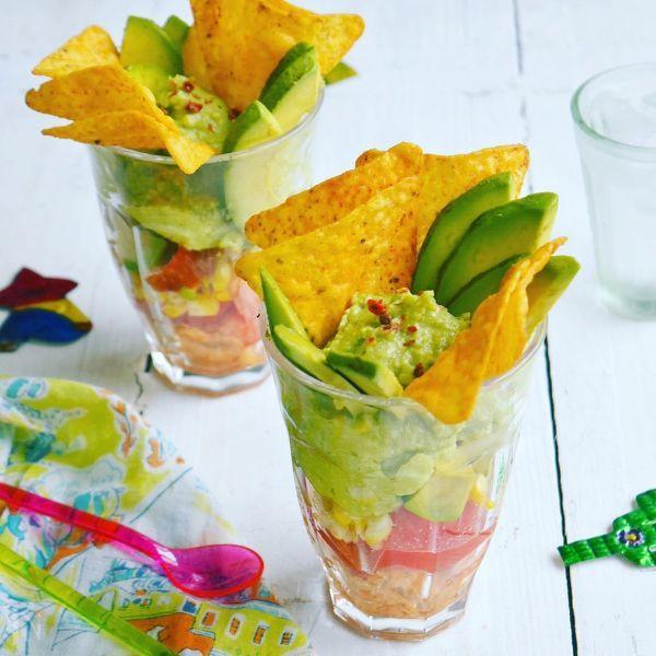 アボカドのメキシカンサラダパフェ