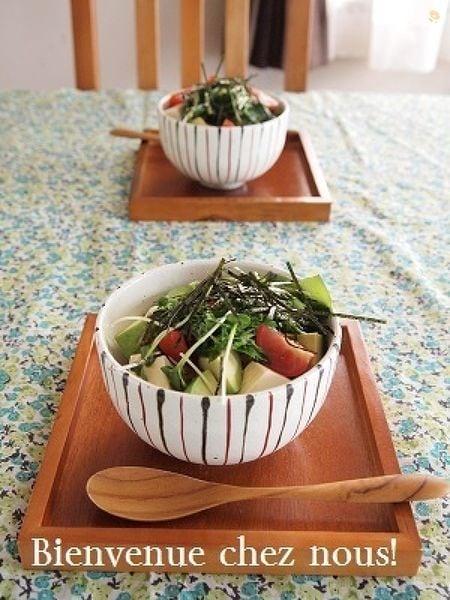 アボカド豆腐どんぶり