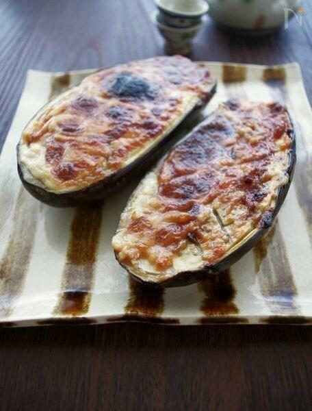 4.和風も◎米なすの味噌チーズ焼き