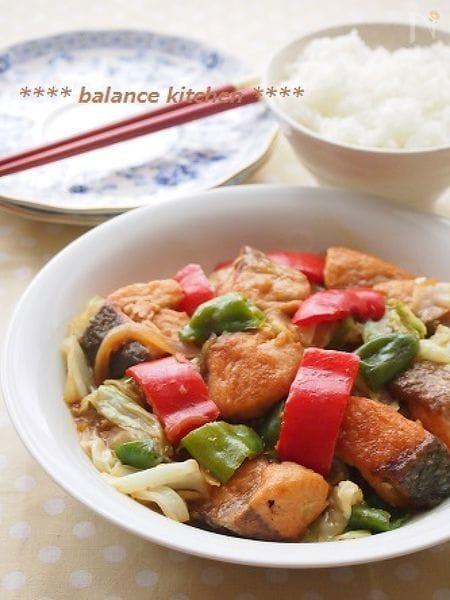 10分!鮭の回鍋肉  甜麺醤は不要!