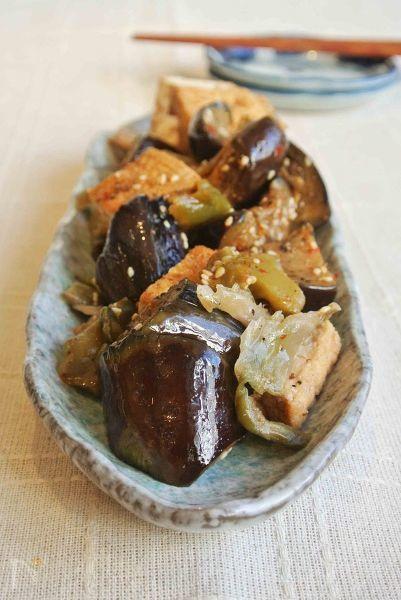 茄子とザーサイの炒め物