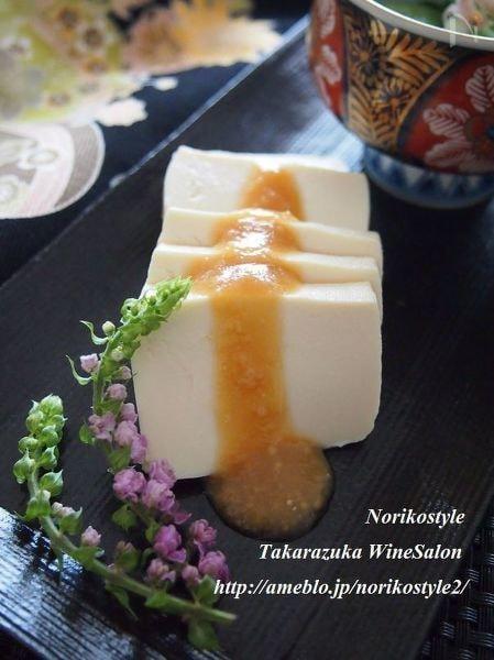3. 水切り豆腐のはちみつ酢味噌かけ