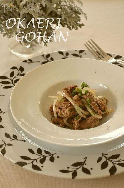 ホワイトオニオンと牛肉の簡単マリネ