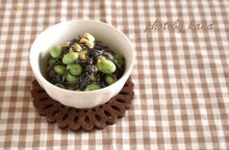 【135kcal】ひじきと枝豆のサラダ