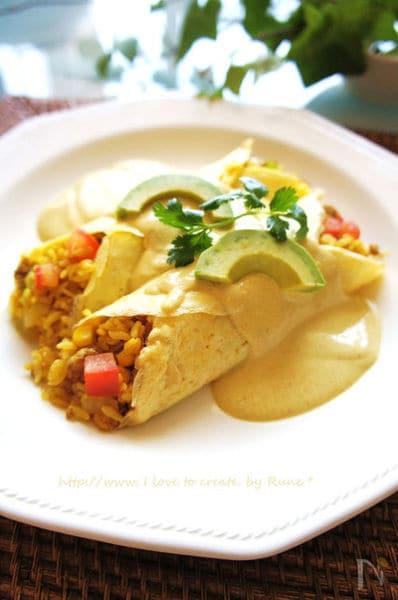 豆腐カレームースdeドライカレー