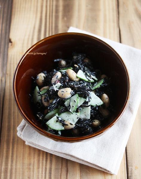 レンジで簡単*ひじきとお豆のサラダ