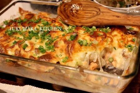 塩鮭と山芋の簡単グラタン