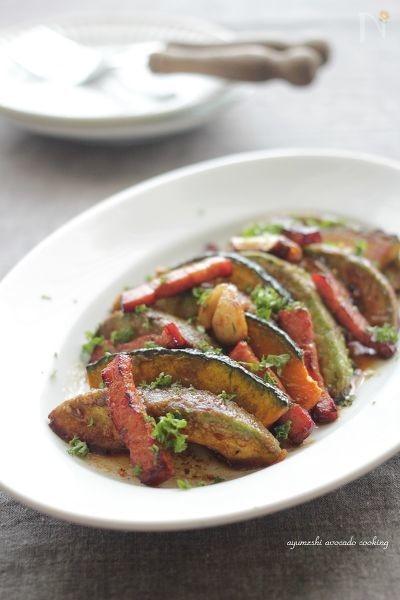 アボカドと南瓜の醤油バルサミコマリネ