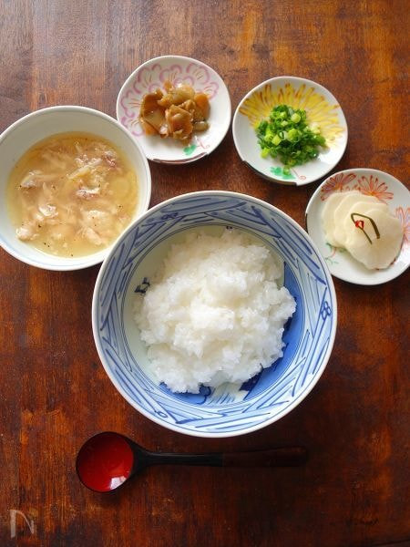 2. 手羽元を使ってスープとセパレートタイプの中華粥