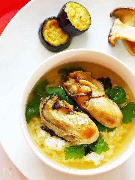 牡蠣のしぐれ煮だし茶漬け☆