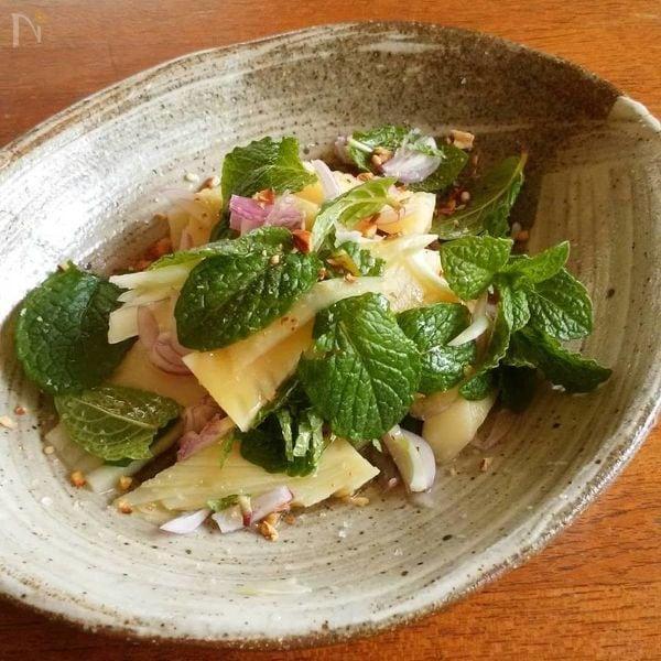 筍とミントの春サラダ