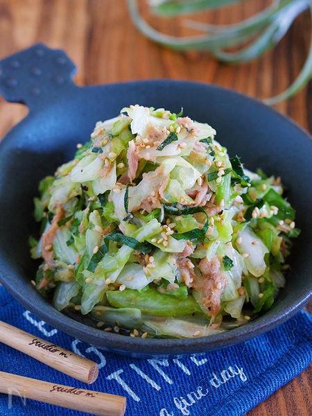 あとひく旨さのおつまみ副菜♪『キャベツナレモンの無限サラダ』