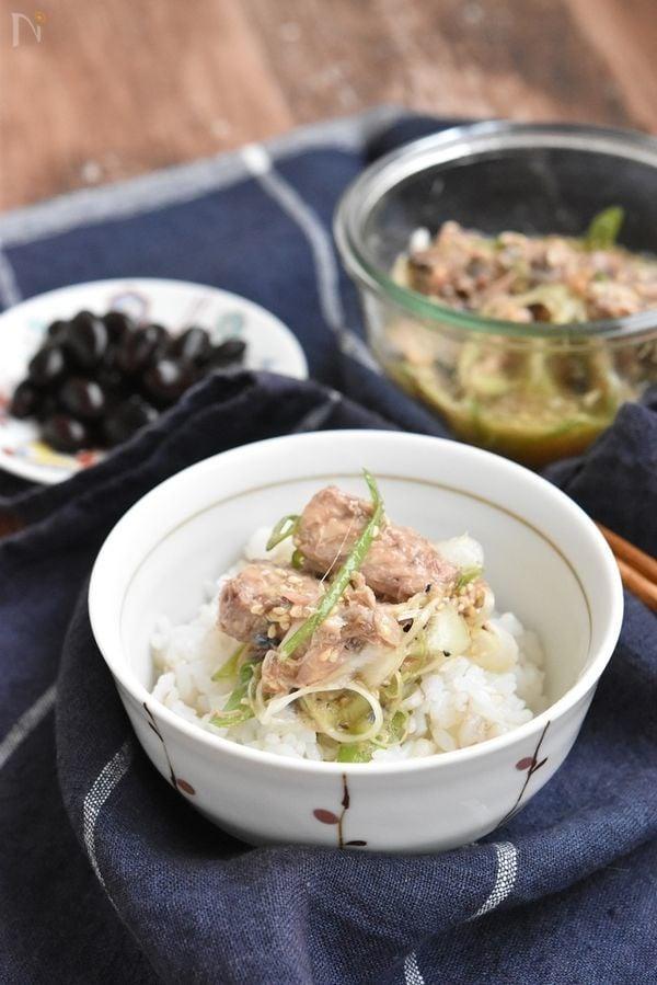 鯖の水煮缶でネギ味噌和え【作り置き】