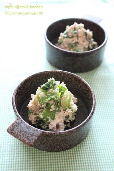 チンゲン菜の白和え