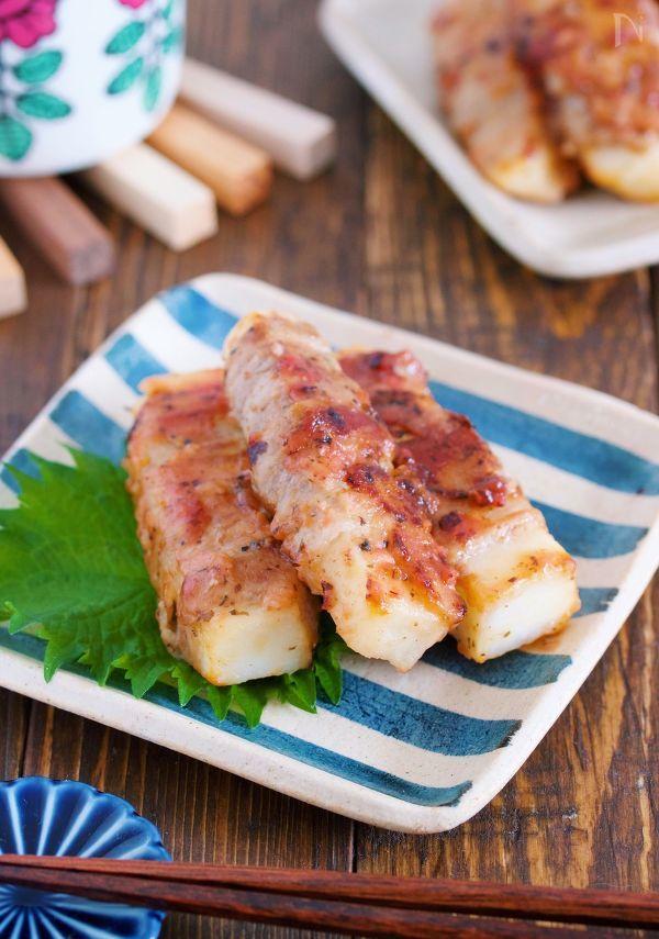 お弁当にも最適♪疲れた胃腸が喜ぶ『豚巻き長いもの梅照り焼き』