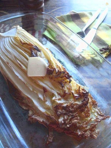 白菜のロースト、ほんのり昆布茶バター風味