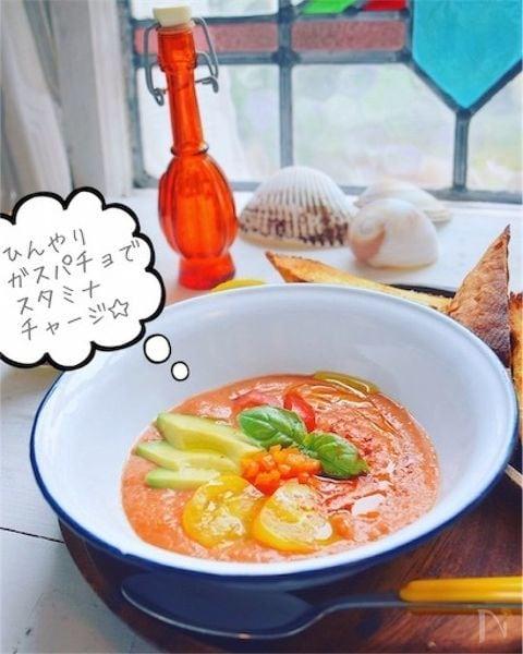 季節野菜のひんやり生スープ☆ガスパチョベジボール
