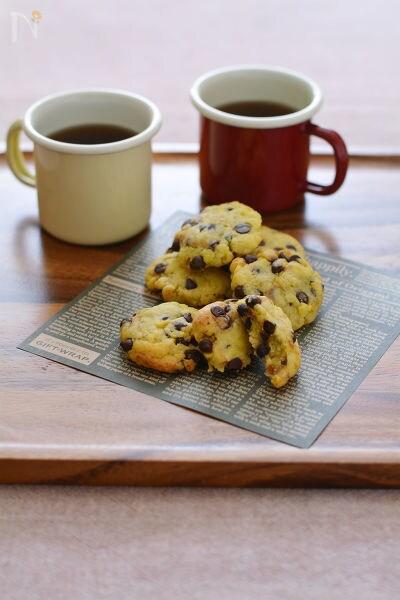 さつまいものチョコチップオイルクッキー