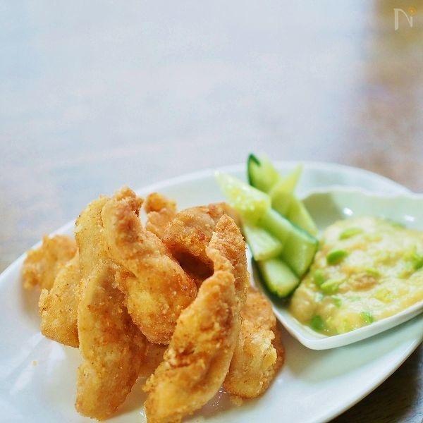 味噌パルミジャーノ・チーズと枝豆ディップソース★唐揚げ添え