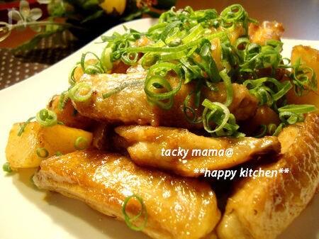 ご飯がすすむよ♪鶏手羽とポテトの甘辛ソテー