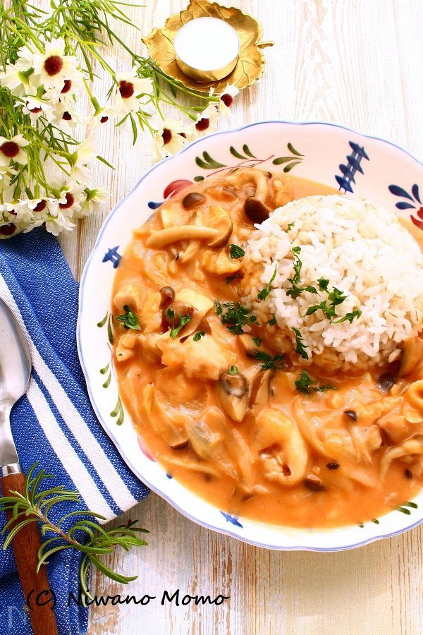 【ひと鍋レシピ】 チキントマトストロガノフ