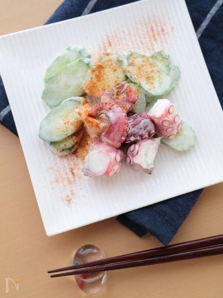 蛸ときゅうりのマヨネーズ和えサラダ