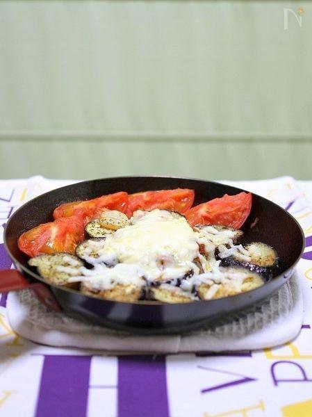 茄子とトマトの焼きサラダ風チーズ焼き