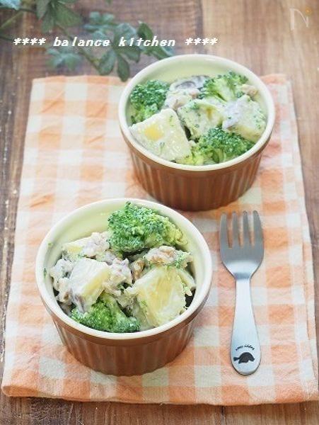 さつまいもとブロッコリーの美容サラダ