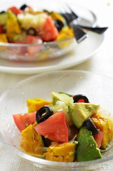 食べる玉葱ドレッシングでカラフルサラダ