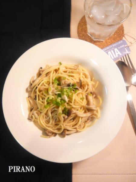 【285Kcal】ヘルシーきのこ麺の和風パスタ