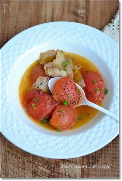 豚バラトマトの昆布煮込み