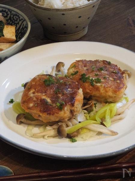 【オーブン】鮭のハンバーグ