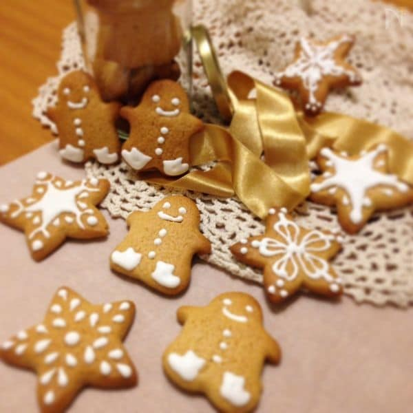 ジンジャーマンクッキー(レモンアイシングかけ)