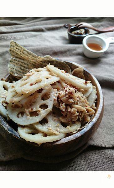 お弁当に〜ハニーマスタード旨ツナれんこん(作り置き常備菜)〜
