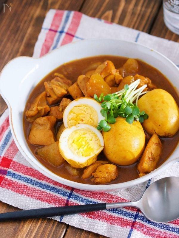 鶏大根とゆで卵の和風カレー
